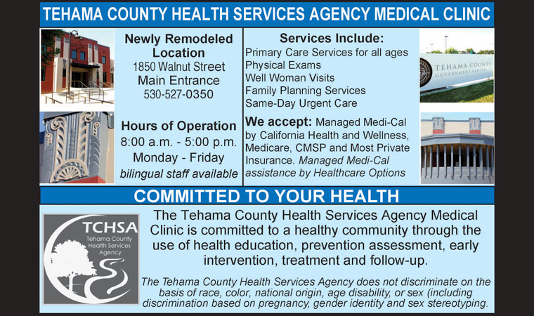 Tehama County Health Services Agency Medical Clinic